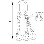 Vázací řetěz oko-hák T8