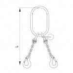 Vázací řetěz oko zvětšené -hák T8