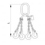 Vázací řetěz oko-hák T10