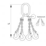 Vázací řetěz oko-hák se zkracovacími háky T8