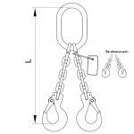 Vázací řetěz oko-hák se zkracovacími háky T10