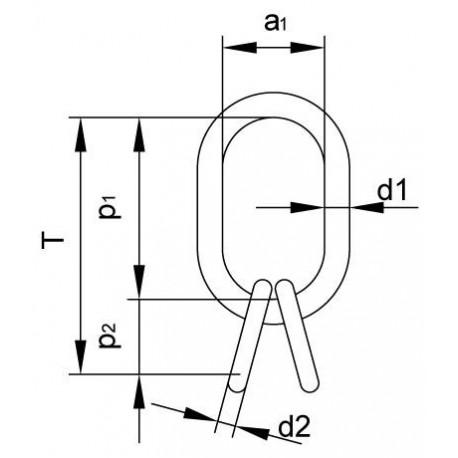 Závěsná hlava ZHVL 16/16 nosnost 1800 kg