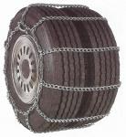 Sněhové řetězy s žebříkovou stopou pro malotraktory - dvojmontáž