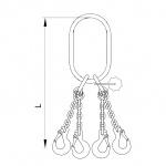 Vázací řetěz oko zvětšené-hák T8