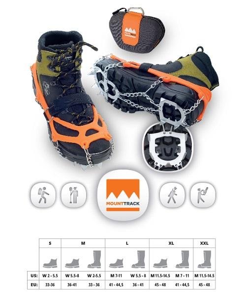 Řetězy na boty Mount track