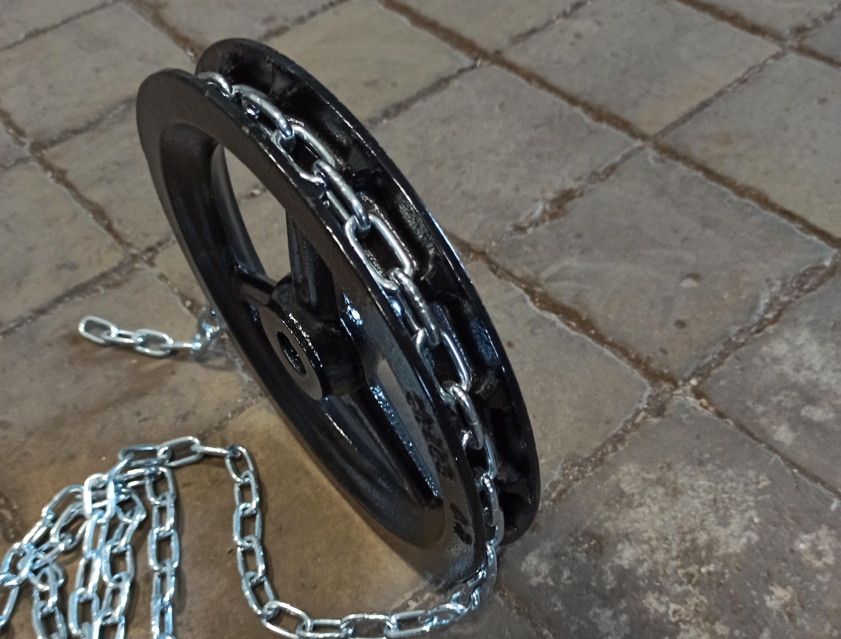 Ruční řetězové kolo s řetězem 4x20